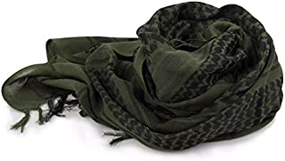 Green Cotton Shemagh Scarf For Unisex