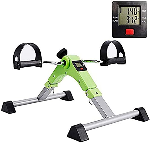 NBLD Ejercitador de Pedal Plegable para Brazos y piernas, Interior portátil, Mini Bicicleta estática, Gimnasio