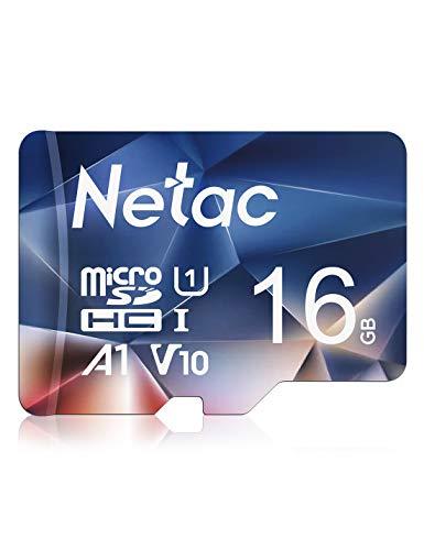 Netac 16GB Speicherkarte,Micro SD Karte(A1, U1, C10, V10, FHD, 600X), TF Memory Card UHS-I bis zu 90/10 MB/s(R/W) für Kameras, Dashcam, Switch und Smartphones