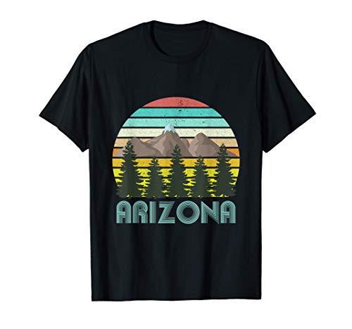 Arizona - Retro Vintage Mountains Nature Hiking Camiseta