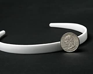 Plastic Headband White Craft - 14mm 1/2 inch (12)
