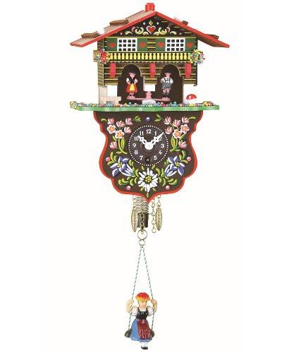Trenkle Reloj en Miniatura de la Selva Negra casa Suiza casita meteorológica TU 808 S