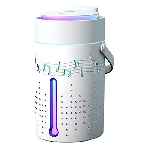 MagiDeal Difusor de Aceite Esencial Altavoz Bluetooth Aromaterapia Luz Nocturna, Humidificador Ultrasónico de Niebla Fría de 1000 Ml Sin Agua Automático