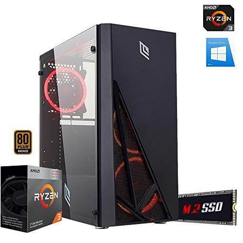 Pc gaming ryzen 3 3200G Cpu quadcore 4.00ghz,Ssd m.2 256gb,Ram 8gb Ddr4,Scheda video Radeon Vega,Wi Fi 300mbps, Case Gaming Red