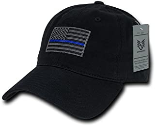 Rapiddominance A03-TBL-BLK Relaxed Graphic Cap, Thin Blue Line, Black