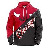 Zach Lavine Loversバスケットボールプルオーバーパーカー、シカゴブルズ#8ユニセックスポップ長袖フード付きジャケット (Color : Red(C), Size : XXL)