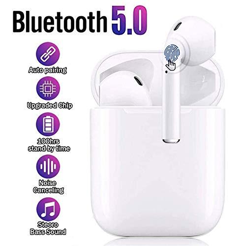 Auriculares inalámbricos, Bluetooth 5.0 táctil, reducción de Ruido estéreo 3D, Auriculares Deportivos Impermeables con Estuche de Carga portátil, Compatible con Apple AirPods/Android/iPhone