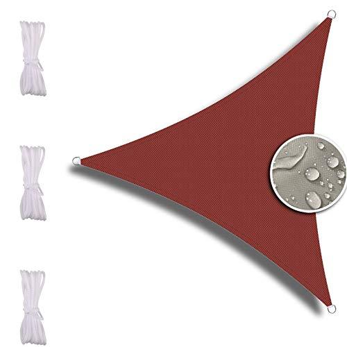 ZQXFZ Toldo para sombra, 4 x 4 x 4 m, para jardín, protección UV, sin rigidez, color rojo oxidado