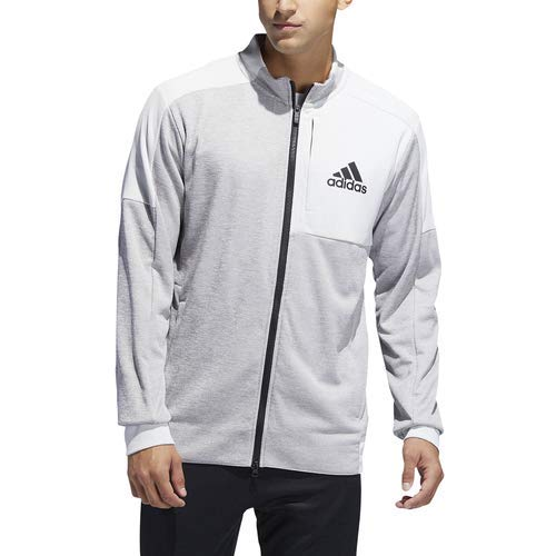 adidas Men's Team Issue Bomber Jacket, Grey Metallic, Large