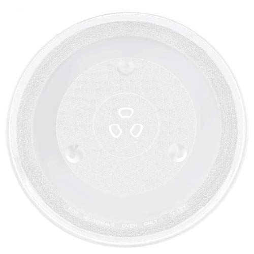 P34 Microwave Glass Turntable Plate 12 3/8 Inch by Beaquicy - Replacement for Sanyo Emerson Microwave