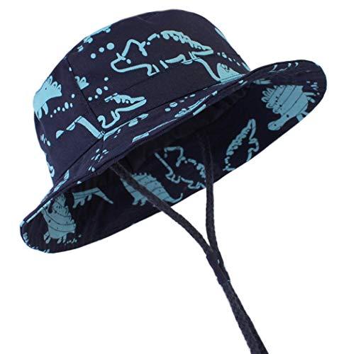 OKWIN Toddler Baby Sun Hats - Bonnet de Plage D'été en Coton À Larges Bords avec Protection Contre Le Soleil