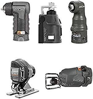 Ridgid Jobmax 5 Head Kit – Jig Saw, Reciprocating Saw, Impact Driver, Drill, Rotary. R8223407 R8223412 R8223401 R8223402 R8223409 - (Bulk Packaged) (Renewed)
