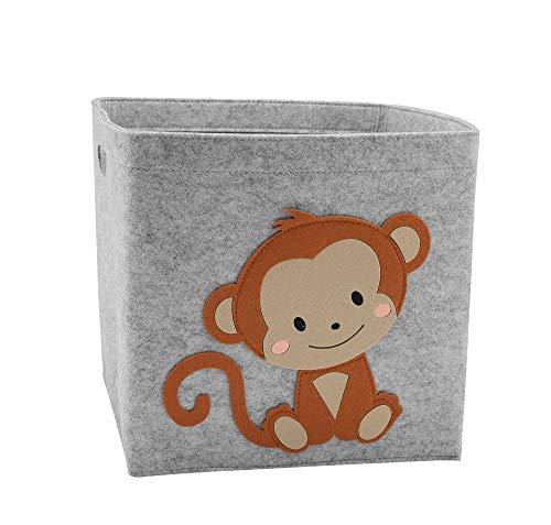Caja de almacenaje Cubo de almacenamiento plegable de cubo Cesta de almacenamiento de dibujos animados lindo de dibujos animados Tela de fieltro de tela de fieltro contenedores de almacenamiento plega