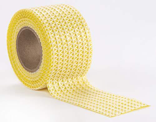 WohnDirect Teppich Anti Rutsch Unterlage - Haftstreifen - hält Teppiche und Vorleger am richtigen Platz - ideale Teppichstreifen Antirutsch - Größe ca. 5cm x 5m – Weiß