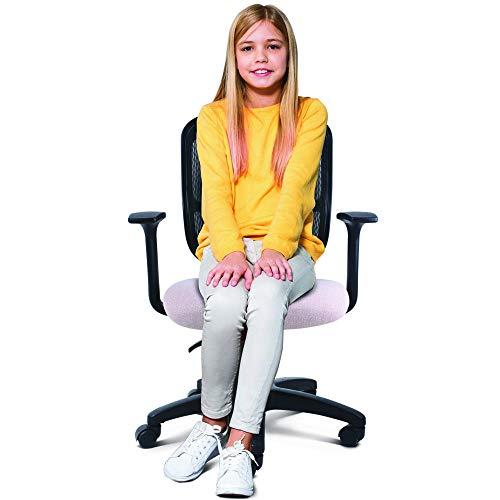 AMVIA Silla de Oficina Ergonómica - Silla de Escritorio Ejecutiva | Giratoria con Respaldo, Ideal para Jóvenes y Niñas - Reclinable (Rosa)