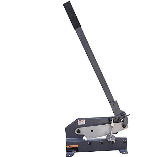 KAKA Industrial Sheet Metal Plate Shear, Solid Steel Frame, Mounting Type Metal Shear, High Precision Manual Hand Plate Shear (HS-12)