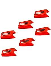 IUME レコードプレーヤー用交換針 6個セット 交換針 レコード針 交換用レコード針 丸針