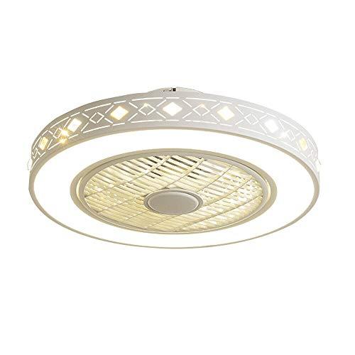Deckenventilator Mit Beleuchtung LED 220V Einstellbare Windgeschwindigkeit Dimmbare Fernbedienung 32W Moderne Blume Lampe für Schlafzimmer Büro (Diamantmodelle)
