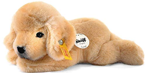 Steiff 280160 Lumpi Golden Retriever Welpe 22 liegend Hund, GOLDBLOND