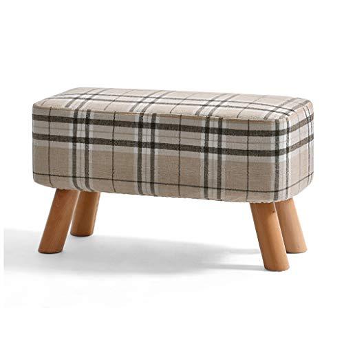 LJZ slixnd Kleiner Hocker Massivholz Moderne Einfachheit Kreative Zuhause Kleine Stuhl Sofa Bank Wechselschuhe Bank Kleine Bank Streifen Muster