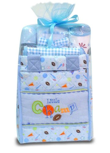 Baby Essentials Little Champ Diaper Bag Gift Set Blue