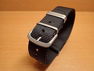 Traser トレーサー 腕時計 純正 NATOストラップ バンド ベルト バネ棒つき BLACK ブラック【正規輸入品】22mm