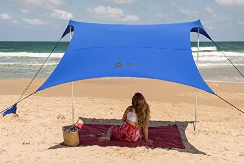 Artik beach sunshade - good budget beach shade and best cheap beach canopy