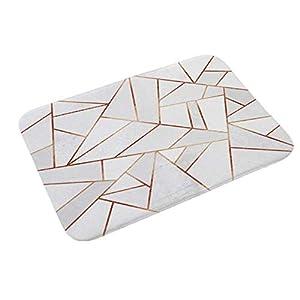 Homieco Elegante Textura Alfombra de Piso Antideslizante Seguridad Entrada al Aire Libre Felpudo Alfombras de baño de 15.7