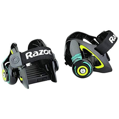 Razor Jetts Heel Wheels roller di colore Verde con scintille