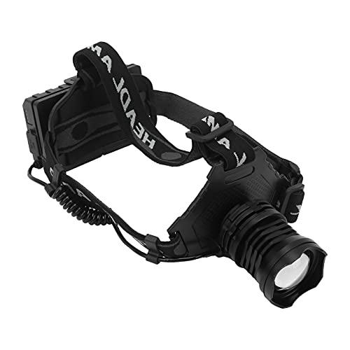 Bnineteenteam Luz de Cabeza de Pesca, Faro Recargable para Pescar Casco de luz LED para Pescar Camping Ciclismo
