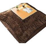 Kaffeetische Kotatsu Tabelle Set Massivholz Futon Tisch Multifunktionales Wohnzimmer Heiztisch Winter Innen-Heiztisch