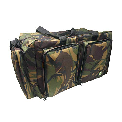Carp On - Fishing Tackle Luggage 600D CAMO Carryall (52 x 30 x 33cm) - For Carrying all your fishing Equipment and Accessories - Use on the Riverside or Bank [27-2110C]