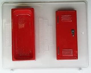School locker pour box. Top is door w/ lock on handle S047 Sports Chocolate Candy Mold