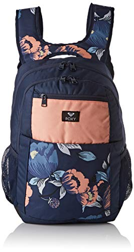 Roxy Damen Here You Are Fitness Backpack, Dress Blues Full Flowers fit, 1SZ