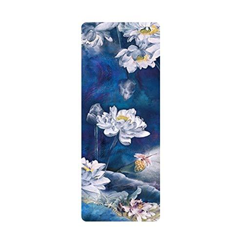 CHENC yujd - Esterilla de yoga antideslizante para yoga, cómoda y cómoda, diseño de cielo estrellado, plegable, almohadilla de goma natural para ejercicio, yoga y pilates femeninos (color: D)
