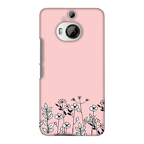 Hartschalen-Schutzhülle für HTC One M9 Plus (dünn, handgefertigt, zum Aufstecken, mit Blumenstrauß), Hellrosa