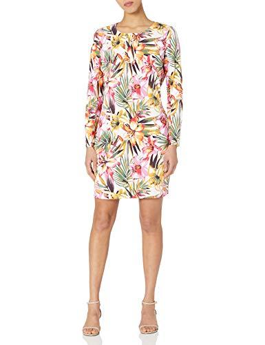 Tribal Women's L/S Dress W/Pckts and Inner Short, Lavender, L