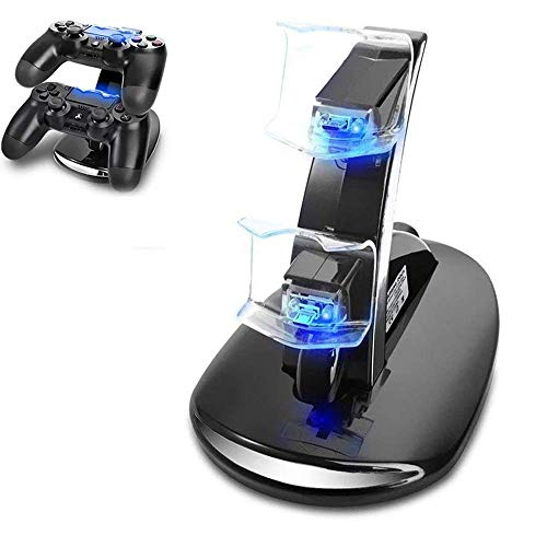 PS4 Controller Ladestation Charger, Likorlove Dualshock Docking Ladegerät Stand Mit USB Kabel und LED Für Sony Playstation 4 / PS4 Slim 4 Pro Game Console Dock Station
