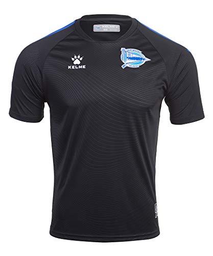 Deportivo Alavés Entrenamiento técnico Camiseta, Juventud Unisex, Negro, 14