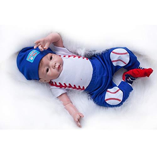 Nicery Muñecas Reborn Vinilo de Silicona Suave para Niños y Niñas Cumpleaños 18-20 Inch 48-50 cm Juguetes Reborn Baby Doll gx45-3oes