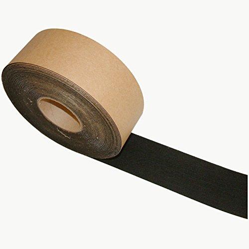 JVCC FELT-06 Polyester Felt Tape [1mm thickness felt]: 3 in. x 75 ft. (Black)