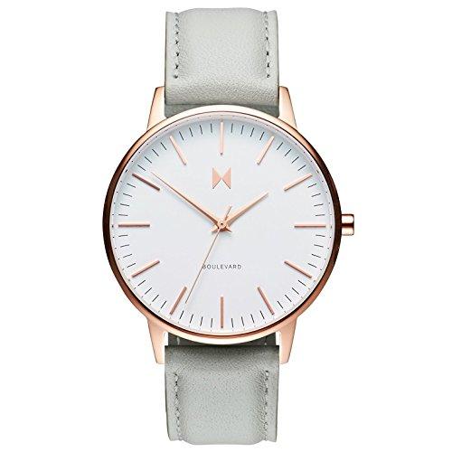 MVMT Damen Analog Quarz Uhr mit Leder Armband D-MB01-RGGR