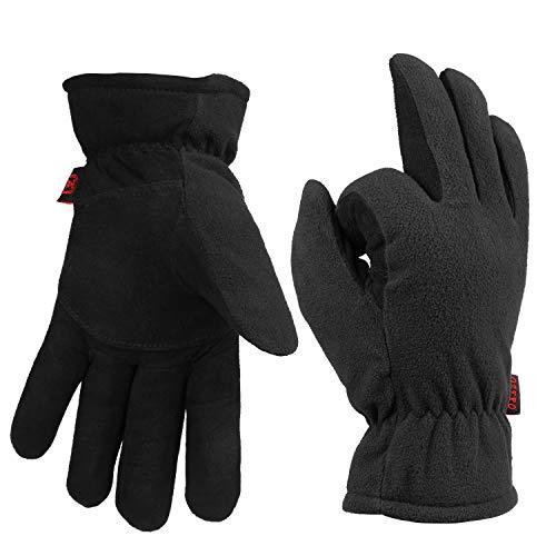 Men & Women Winter Work Driving Gloves Deerskin...