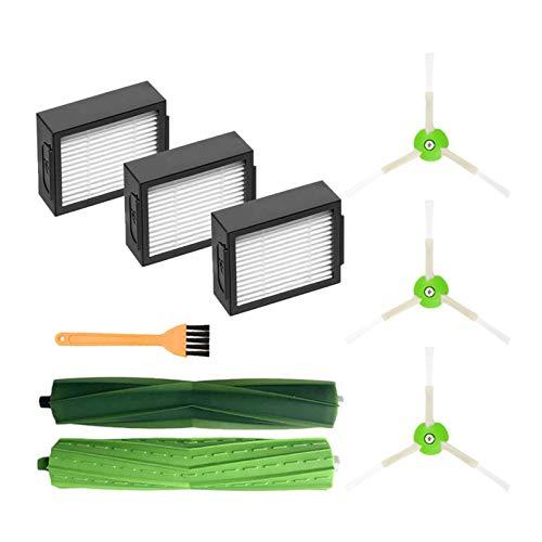 Recambios de aspiradora, cepillos laterales, cepillos de rodillos y filtros Hepa, aptos para IRobot Roomba I7 I7+ E5 E6 I Series Kit de repuesto de piezas de aspiradora (color: SMT333) (color: Smt210)