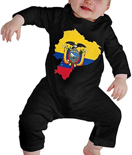 WlQshop Mono para Bebé,Mameluco Bebé Unisex Flag Map of Ecuador Baby Girl Long Sleeve Infant Bodies