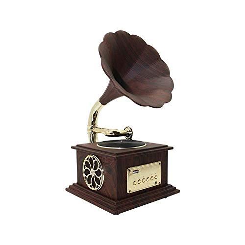 Mini estéreo Bluetooth fonógrafo Pequeño Home Style Living Bluetooth estéreo de altavoces...