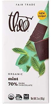 Theo Chocolate - Classic Collection Organic Dark Chocolate 70% Cacao Mint - 3 oz.