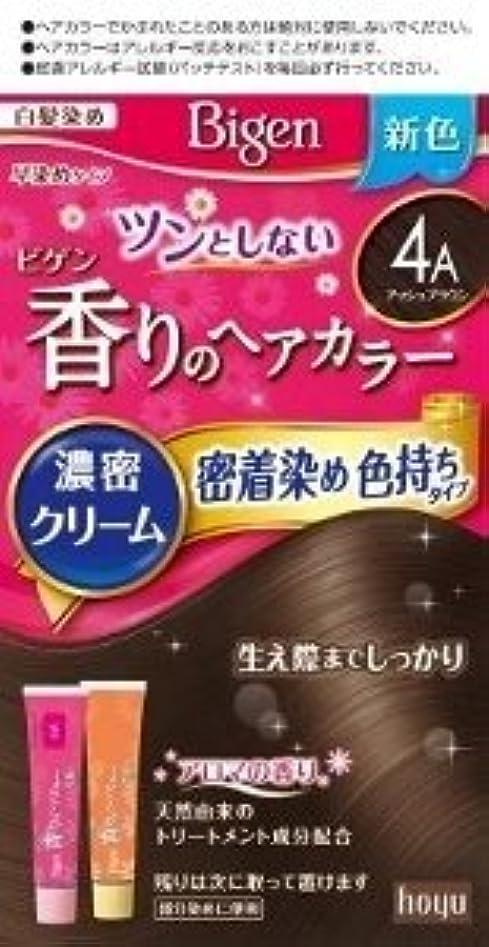 コットンくるくるフリースホーユー ビゲン 香りのヘアカラー クリーム 4A (アッシュブラウン)×3個