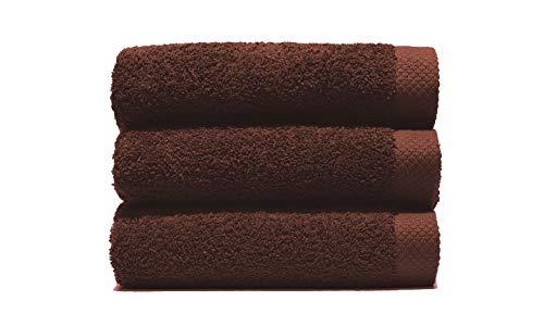Lasa Pure Juego 3 Toallas, algodón 100%, Marrón, Baño (100 x 150 cm), Lavabo y tocador