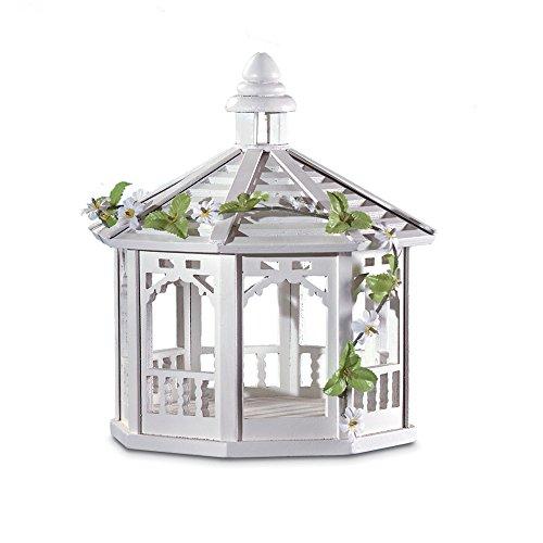 Koehler 30209 10,5 Zoll weißer Pavillon Vogelfutterhaus mit Ranken